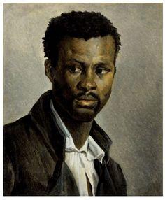 Théodore Géricault (1791- 1824) was een Frans kunstschilder uit de negentiende eeuwse romantiek. Portret van een neger, 1822-1823
