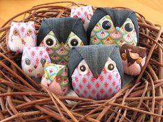 Japanese fabric owls