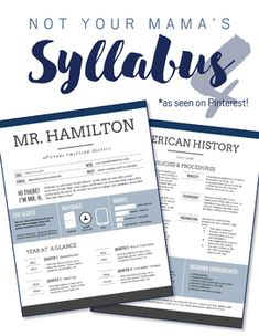 This custom infographic syllabus takes a nontraditional spin on the boring syllabus document w. High School Classroom, English Classroom, Science Classroom, Music Classroom, Future Classroom, Teaching History, Teaching Tools, Teacher Resources, History Teachers