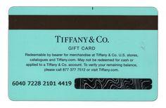 Tiffany gift card! I want tiffany keys! :)