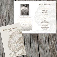 I have a new design on EtsyOak Tree Memorial/Funeral Program Order of by FoxDigitalDesign, $30.00