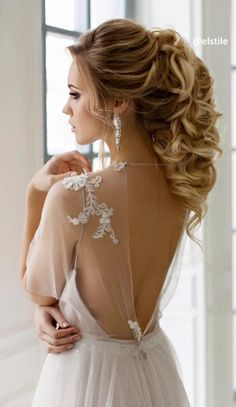 long wedding hairstyle idea from Elstile / http://www.himisspuff.com/bridal-wedding-hairstyles-for-long-hair/43/