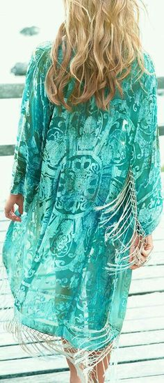 Turquoise   white - Boho Beautiful - love the design- the fabric - and the  color - AMAZING. 2e72799b04d