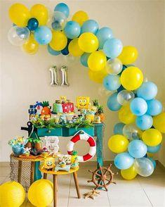 12th Birthday, Birthday Diy, Birthday Party Themes, Kids Beach Party, Beach Kids, Bob Sponge, Spongebob Birthday Party, Ideas Para Fiestas, Diy Cards