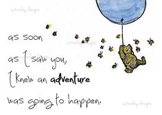 Winnie the Pooh-wall mural and quote Winnie The Pooh Quotes, Winnie The Pooh Friends, New Adventure Quotes, Cross Stitch Baby, Pooh Bear, Disney Quotes, Printable Quotes, Cute Quotes, Wisdom Quotes