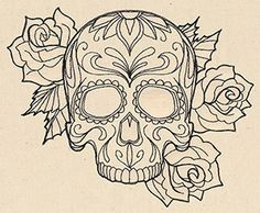 Thread Tattoos - Sugar Skull | Urban Threads: Unique and Awesome Embroidery Designs