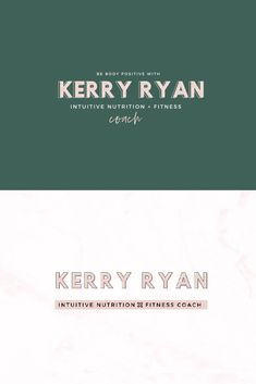 #karimacreative Minimal logo design for a fitness coach business. The primary and secondary logo design in two color combinations - pink and deep green. Elegant logo by Karima Creative. #logo #logodesign