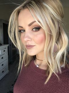 66 Beautiful Long Bob Hairstyles With Layers For 2018 - Style Easily Ombré Hair, Hair Dos, Winter Hairstyles, Pretty Hairstyles, Blonde Long Bob Hairstyles, Medium Hair Styles, Short Hair Styles, Pinterest Hair, Shoulder Length Hair