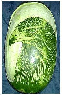 How to Decorate Pumpkin Pies Fruit Sculptures, Food Sculpture, Veggie Art, Fruit And Vegetable Carving, Watermelon Art, Watermelon Carving, Food Carving, Fruit Decorations, Fruit Carvings