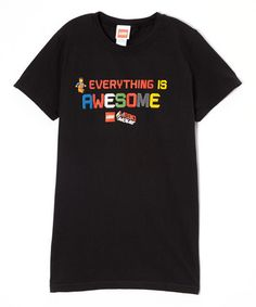 Look at this #zulilyfind! Black LEGO Movie 'Everything Is Awesome' Tee - Boys #zulilyfinds