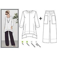 DIY Womens Clothing : Style Arc Sewing Pattern  Daisy Designer Pant and Tunic Outfit (Sizes 18-30)
