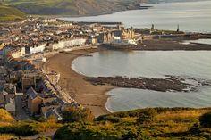 Aberystwyth in Wales Aberystwyth, Irish Sea, Atlantic Ocean, Cardiff, Great Britain, Wales, Places Ive Been, United Kingdom, Scotland