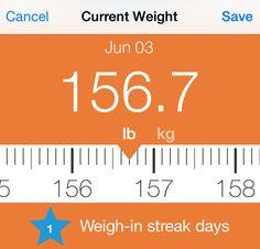 Start your weigh in streak today!