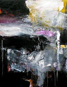 """""""Requiem pour les oiseaux"""", Gérard Stricher, Oil on canvas, 2011."""
