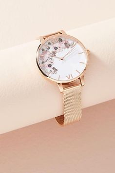 Olivia Burton Winter Garden Rose Watch