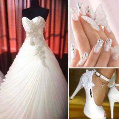 Inspiración para #Novias: #Vestidos, #Tacones, #Bolsos, #Anillos, #Tocados #weddingdress #wedding #highheels #rings