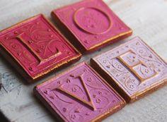 """""""LOVE"""" handmade fridge magnets"""