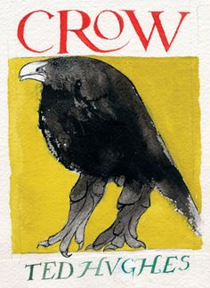 Crow, 1971, by Leonard Baskin (Poems, Ted Hughes.) This is a GREAT book. One of my favorite art professors in college gave this to me along with a mummified crow she found stuck in her chimney. I spent that year drawing & photographing it.