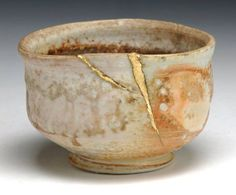 """""""When the Japanese mend broken objects they aggrandize the damage by filling the cracks with gold, because they believe that when something's suffered damage and has a history it becomes more beautiful."""" – Barbara Bloom"""