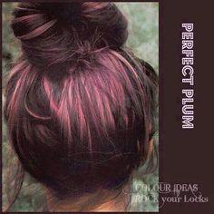 Perfect plum hair