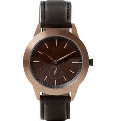 Uniform Wares351 Series PVD Rose Gold Wristwatch  $880