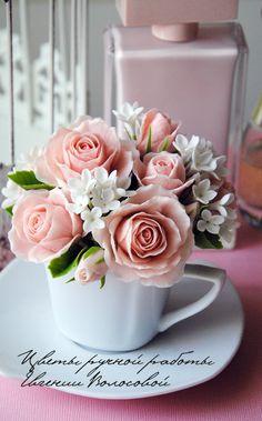 цветы в чашке полимерная глина: 15 тыс изображений найдено в Яндекс.Картинках