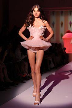 Zahia Dehar Lingerie 'Couture': Runway - Paris Fashion Week Haute Couture F/W 2013