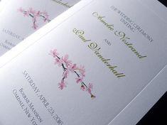 100 Cherry Blossoms Wedding Ceremony by PrettyStationeryShop, $145.00