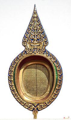 Wat Thong Nopphakhun Ubosot Window by Gerry Gantt Indonesian Decor, Thailand Photos, Outside Decorations, Thai Art, Buddha Art, Vintage Photographs, Art And Architecture, Asian Art, Fine Art America
