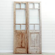 This beautiful reclaimed glass set can be customized to meet your dimensions. Alternative glass options also available. Contact us for a quote. Front Door Entryway, Entry Doors, Vintage Doors, Antique Doors, Reclaimed Doors, French Doors, Ladder Decor, 19th Century, Im Not Perfect