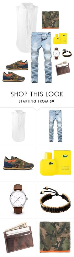 """""""Hitting the streets"""" by fulltimecelebrity ❤ liked on Polyvore featuring UNCONDITIONAL, Valentino, Lacoste, Vitaly, Suvelle, men's fashion and menswear"""
