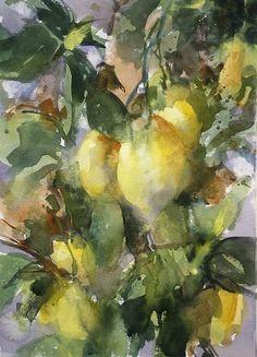 """lemon tree, very pretty"" watercolor 12x16 sarah yeoman m"