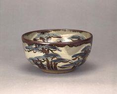 乾山銹絵染付松図茶碗けんざんさびえそめつけまつずちゃわん 江戸時代 18c