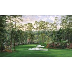 "10th Hole 'Camellia"" Augusta National golf art by Linda Hartough $225"