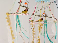 lampshade bird cage by ohsohappytogether, via Flickr