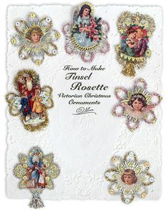 Instructions for making Victorian scrap tinsel rosettes from D. Blumchen & Co.