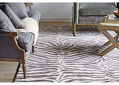 Wilderness Rug, Silver Blue | A Moment of Glamour | One Kings Lane