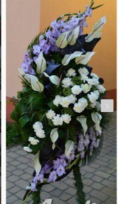 Yanet Funeral Floral Arrangements, Church Flower Arrangements, Casket Flowers, Funeral Flowers, Exotic Flowers, Amazing Flowers, Funeral Caskets, Modern Floral Design, Memorial Flowers
