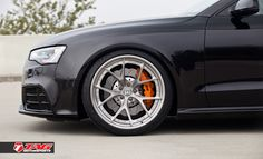 "Audi RS5 on 20"" HRE S101 & Lambo Orange Calipers - TAG Motorsports"