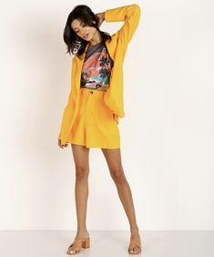 Show Me Your Mumu Artemis Yellow Blazer High Rise Shorts Bold Color Outfits Lna Clothing, Yellow Blazer, Mini Club Dresses, Summer Suits, Linen Blazer, Colourful Outfits, Cute Dresses, Casual Wear, Artemis