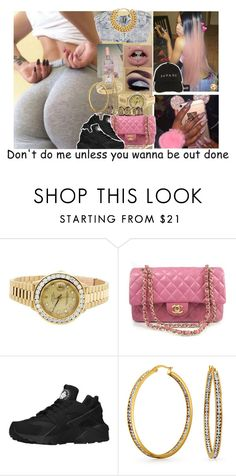 """""""//"""" by melaninmonroee ❤ liked on Polyvore featuring Chanel, Rolex, NIKE and Bling Jewelry"""