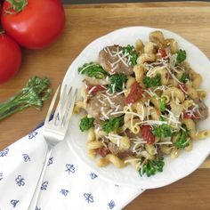Make this simple and satisfying italian sausage with pasta and sun-dried tomatoes -- and everyone will want seconds!