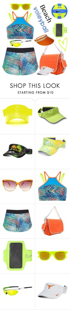 """Beach Voleyball"" by yours-styling-best-friend ❤ liked on Polyvore featuring Brooks, Top of the World, Guy Harvey, Sweaty Betty, Chanel, NIKE, Yves Saint Laurent, Tifosi and Nine West"