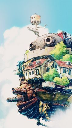 Howl's Moving Castle was a beautiful anime! The castle was kind of steampunk. Although the movie differed from the book, it was still amazing!