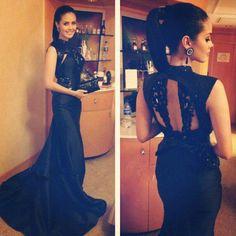 $149--Vestidos formales 2014 High neck Mermaid black Prom Dress FROM 27DRESS.COM