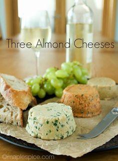 A Trio of Almond Cheese: Chive, Sun-Dried Tomato & Basil, Chili & Rosemary VEGAN