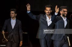 Gianluca Ginoble, Ignazio Boschetto and Piero Barone of Il Volo perform on stage during Lucca Summer Festival 2017 on July 21, 2017 in Lucca, Italy.