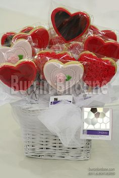 heart cookies. More Valentine Cookie ideas at http://www.cookie-elf.com/valentine-cookies.html.