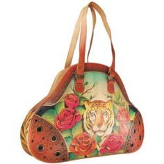 ANUSCHKA hand painted leather large handbag