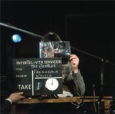 "Beatle Paul McCartney, recording ""Paperback Writer"""